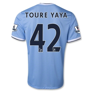 Manchester City 13/14 TOURE YAYA Home Soccer Jersey