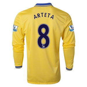 Arsenal 13/14 ARTETA LS Away Soccer Jersey