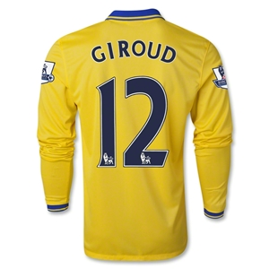 Arsenal 13/14 GIROUD LS Away Soccer Jersey