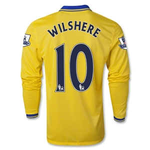 Arsenal 13/14 WILSHERE LS Away Soccer Jersey