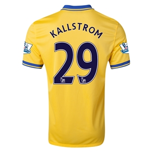 Arsenal 13/14 KALLSTROM Away Soccer Jersey
