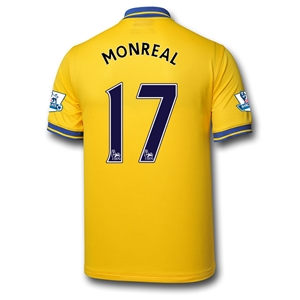 Arsenal 13/14 MONREAL Away Soccer Jersey