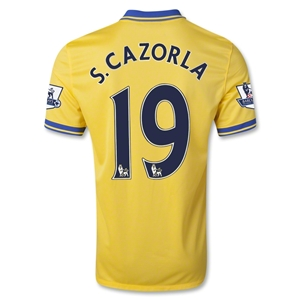 Arsenal 13/14 S. CAZORLA Away Soccer Jersey