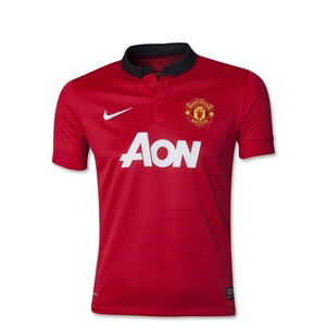 Manchester United 13/14 Youth Home Soccer Jersey