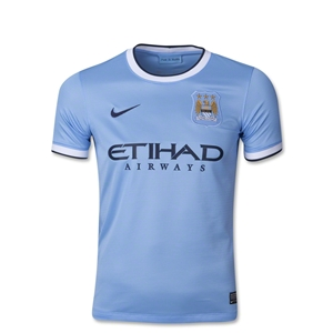 Manchester City 13/14 Youth Home Soccer Jersey