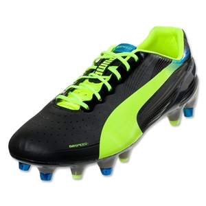 PUMA evoSPEED 1.2 Mixed SG (Black/Fluorescent Yellow)