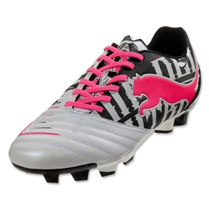 PUMA PowerCat 3 Graphic FG (Metallic White/Black/Fluo Pink)