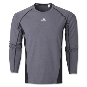adidas Tech Fitted Long Sleeve Top (Dk Grey)