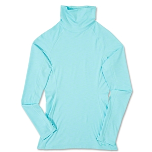 Under Armour Women's Coldgear Cozy Neck Top (Sky Blue)