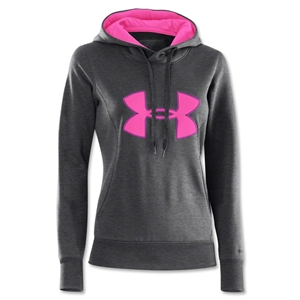 Under Armour Women Fleece Storm Big Logo Hoody (Pink/Sv)