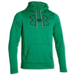 Under Armour Fleece Storm Outline Big Logo Hoody (Green)