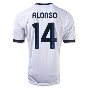 Real Madrid 12/13 Xabi Alonso Home Soccer Jersey
