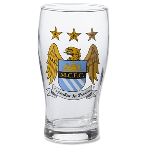 Manchester City Crest Pint Glass