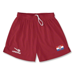 Croatia Primera Soccer Shorts (Red)