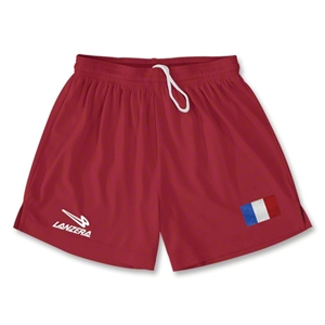 France Primera Soccer Shorts (Red)