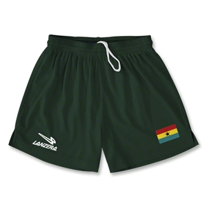 Ghana Primera Soccer Shorts (Dark Green)