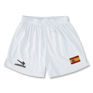 Spain Primera Soccer Shorts (White)