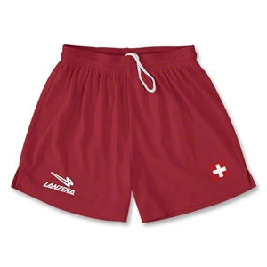 Switzerland Primera Soccer Shorts (Red)