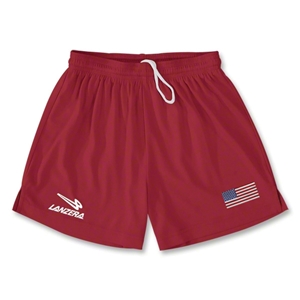 USA Primera Soccer Shorts (Red)