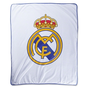 Real Madrid Crest Fleece Blanket