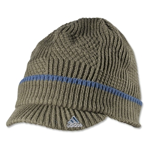 adidas Earth Green/Sub Blue Knit Beanie (Green)