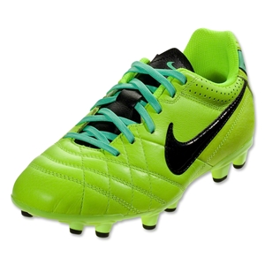 Nike Tiempo Natural IV Leather FG Junior (Volt/Black/Green Glow)