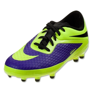 Nike Junior Hypervenom Phelon FG (Electro Purple/Volt/Black)