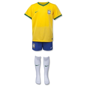 Brazil 2014 Home Boys Kit