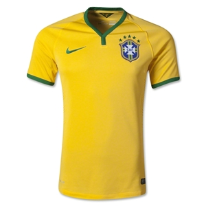 Brazil 2014 Authentic Home Soccer Jersey