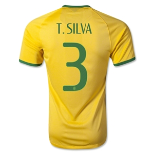 Brazil 14/15 T. SILVA Authentic Home Soccer Jersey