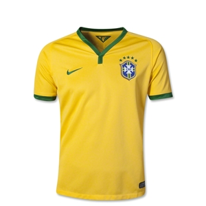 Brazil 2014 Youth Home Soccer Jersey