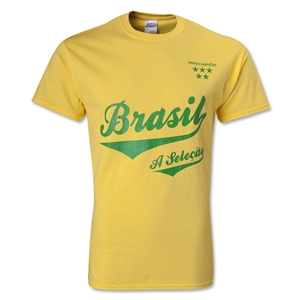 Brazil 5 Stars T-Shirt (Yellow)