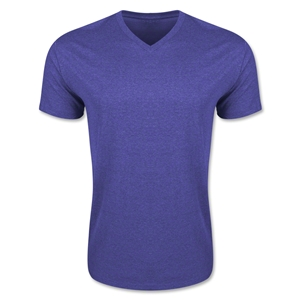 Men's V-Neck Tee (Heather Pu)