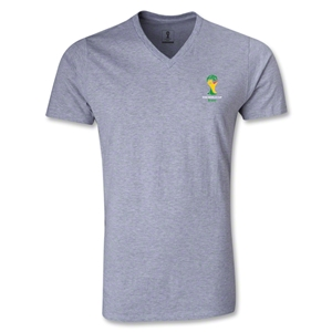2014 FIFA World Cup Brazil(TM) Event Emblem V-Neck T-Shirt (Gray)