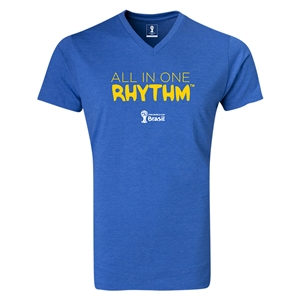 2014 FIFA World Cup Brazil(TM) All In One Rhythm V-Neck T-Shirt (Heather Royal)