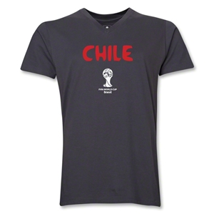 Chile 2014 FIFA World Cup Brazil(TM) Men's Core V-Neck T-Shirt (Heather Grey)