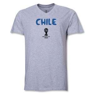 Chile 2014 FIFA World Cup Brazil(TM) Men's Core V-Neck T-Shirt (Grey)