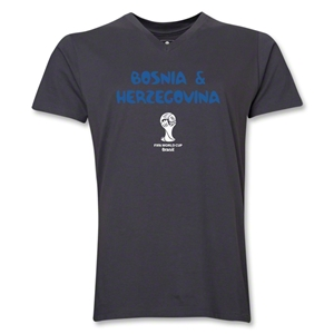 Bosnia-Herzegovina 2014 FIFA World Cup Brazil(TM) Men's Core V-Neck T-Shirt (Heather Grey)