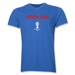 Costa Rica 2014 FIFA World Cup Brazil(TM) Men's Core V-Neck T-Shirt (Heather Royal)