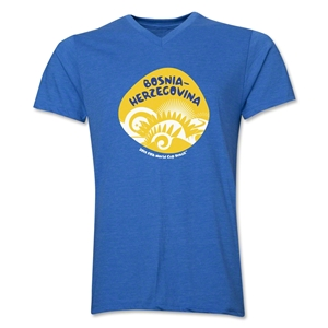Bosnia-Herzegovina 2014 FIFA World Cup Brazil(TM) Men's Icon V-Neck Icon T-Shirt (Heather Royal)