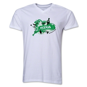 Nigeria 2014 FIFA World Cup Brazil(TM) Men's V-Neck Celebration T-Shirt (White)