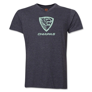 Jaguares Distressed Men's V-Neck T-Shirt (Dark Gray)