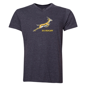 South Africa Springboks Men's V-Neck T-Shirt (Dark Gray)