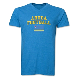 Aruba Football V-Neck T-Shirt (Heather Turquoise)