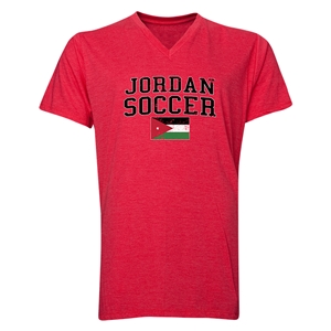 Jordan Soccer V-Neck T-Shirt (Heather Red)