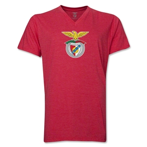 Benfica V-Neck T-Shirt (Heather Red)