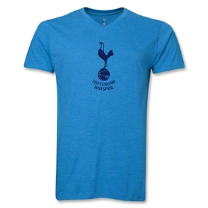 Tottenham Hotspur V-Neck Men's T-Shirt (Heather Turquoise)