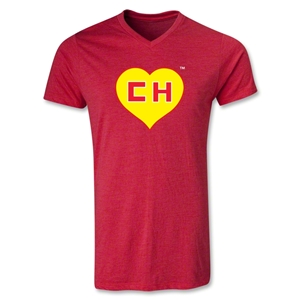 Chapulin V-Neck T-Shirt (Heather Red)