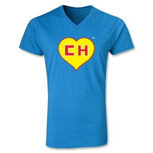 Chapulin V-Neck T-Shirt (Heather Turquoise)