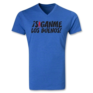 Chapulin Los Buenos V-Neck T-Shirt (Heather Royal)